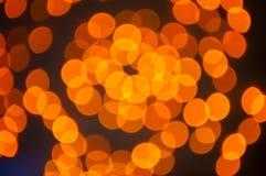 橙色Bokeh 免版税图库摄影