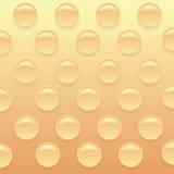 橙色Bubblewrap背景 免版税库存图片