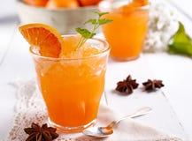 橙色granita在西西里岛 免版税库存照片