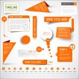橙色infographic时间安排元素/模板