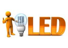 橙色LED OK 库存例证