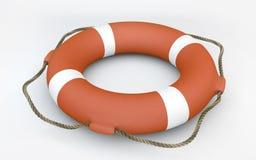 橙色lifebuoy 免版税库存照片