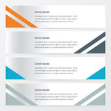 橙色Moden的横幅,蓝色,灰色颜色 向量例证