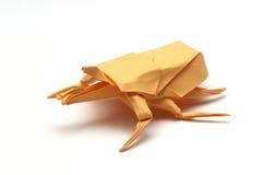 橙色origami臭虫 免版税库存图片