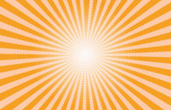橙色Starburst作用背景 库存照片
