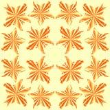 橙色stary瓦片 免版税库存图片