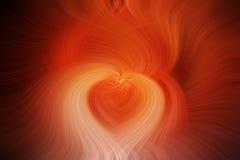 橙色swerl心脏 库存照片