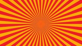 橙黄光芒海报 库存例证