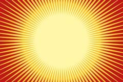 橙黄色流行艺术太阳背景 库存例证