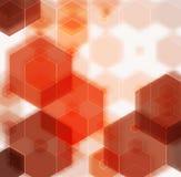 橙黄棕色抽象背景多角形 免版税图库摄影