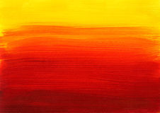 橙黄红色绘画背景 免版税库存图片