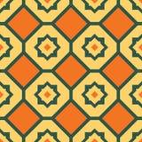 橙黄色无缝的几何样式 皇族释放例证