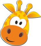 橙黄长颈鹿的absrtaction 免版税库存图片