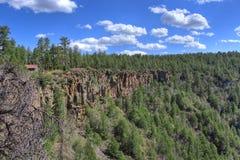 橡木小河峡谷亚利桑那,美国视图  库存图片