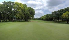 橡树乡村俱乐部高尔夫球场在爱德蒙俄克拉何马 库存照片