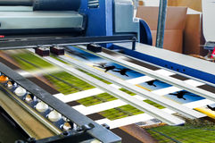 橡皮打印机在生产时 免版税库存照片