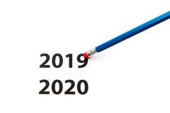橡皮擦 背景概念查出的目的程序时间白色 以后的新年度 免版税图库摄影