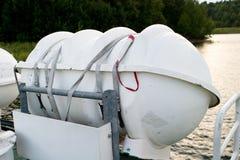 橡皮救生艇 免版税库存照片