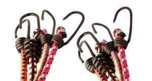 橡皮筋五颜六色的异常分支绳索 免版税库存照片