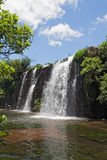 橡皮防水布橡皮防水布河的森林秋天sabie,南非北部的  免版税库存照片