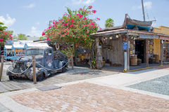 橡皮防水布海庭院 免版税图库摄影