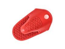 橡胶保温的手套或握持热锅的布垫子在白色backgrou 免版税图库摄影