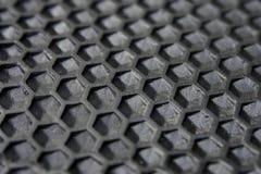 黑橡胶六角形纹理  图库摄影