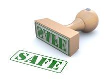 橡胶印花税安全 向量例证