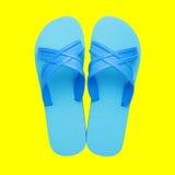 橡胶拖鞋 免版税库存照片