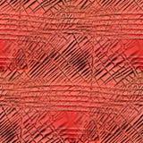 橡胶无缝的红色被削减的老背景纹理 免版税库存照片