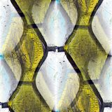 橡胶无缝的黄色红色被削减的老背景 免版税图库摄影
