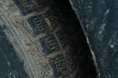 橡胶汽车堵塞与不有效的轮胎 免版税库存照片
