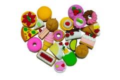 橡胶甜点心的心脏 免版税库存照片