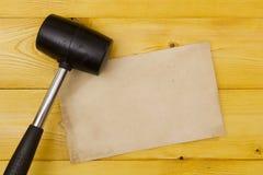 黑橡胶短槌 免版税库存照片