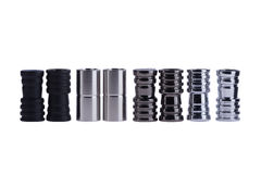 橡胶管子的铁适配器水烟筒的 免版税库存照片