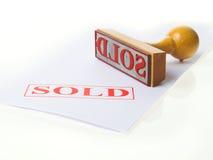 橡胶被出售的印花税 免版税图库摄影