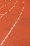 橡胶跑道垂直 图库摄影