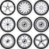 橡胶轮子 免版税库存图片