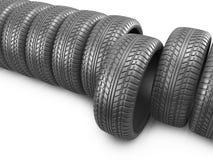 橡胶轮胎。轮子3D,象  图库摄影