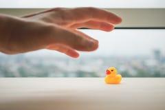 橡胶鸭子受害者 库存图片