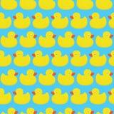 橡胶鸭子蓝色样式 免版税库存照片
