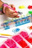 橡胶织布机镯子 免版税库存照片