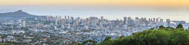 檀香山在奥阿胡岛,夏威夷,美国 库存照片