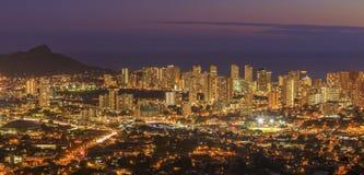 檀香山在奥阿胡岛,夏威夷,美国 免版税库存图片
