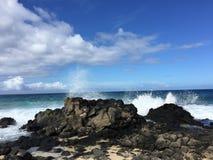 檀香山海滩 免版税库存照片
