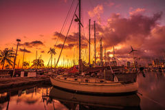 檀香山港口夏威夷 免版税库存照片