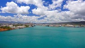 檀香山港口奥阿胡岛大海  库存照片