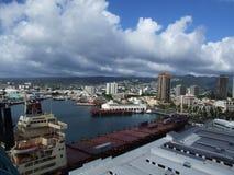 檀香山港口,奥阿胡岛,夏威夷 免版税库存照片