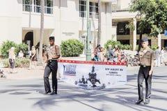 檀香山,夏威夷,美国- 2016年5月30日:威基基阵亡将士纪念日游行 免版税图库摄影