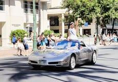 檀香山,夏威夷,美国- 2016年5月30日:威基基阵亡将士纪念日游行 免版税库存照片